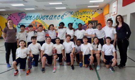 Notre équipe de flag-football s'entraîne!